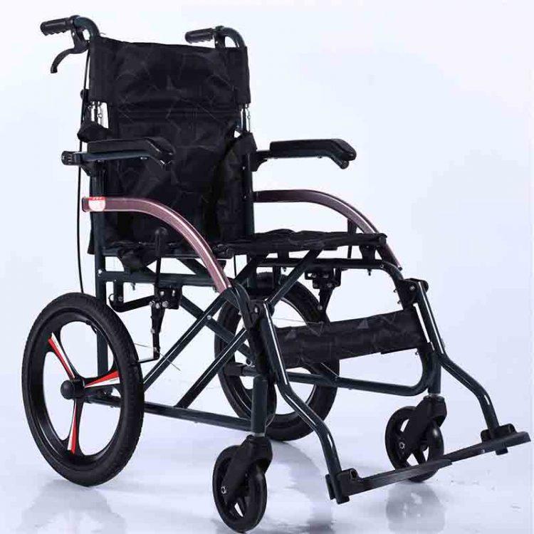 ultra lightweight wheelchair with aluminum frame