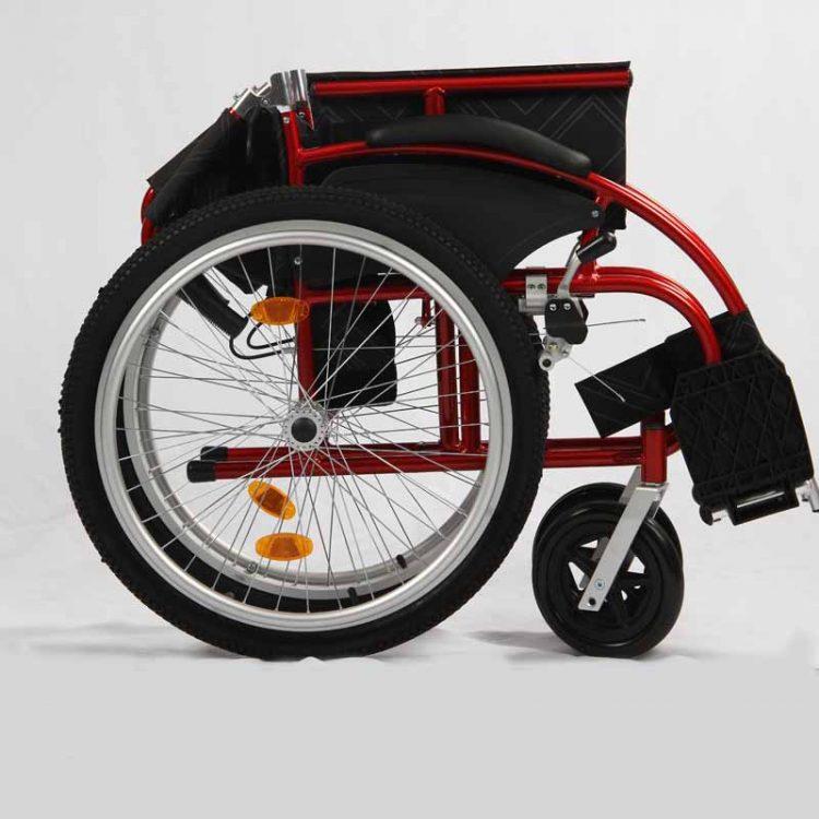 Manual wheelchair folding