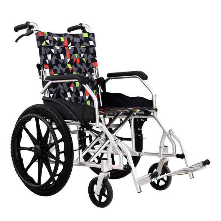 All terrain lightweight folding manual wheelchair