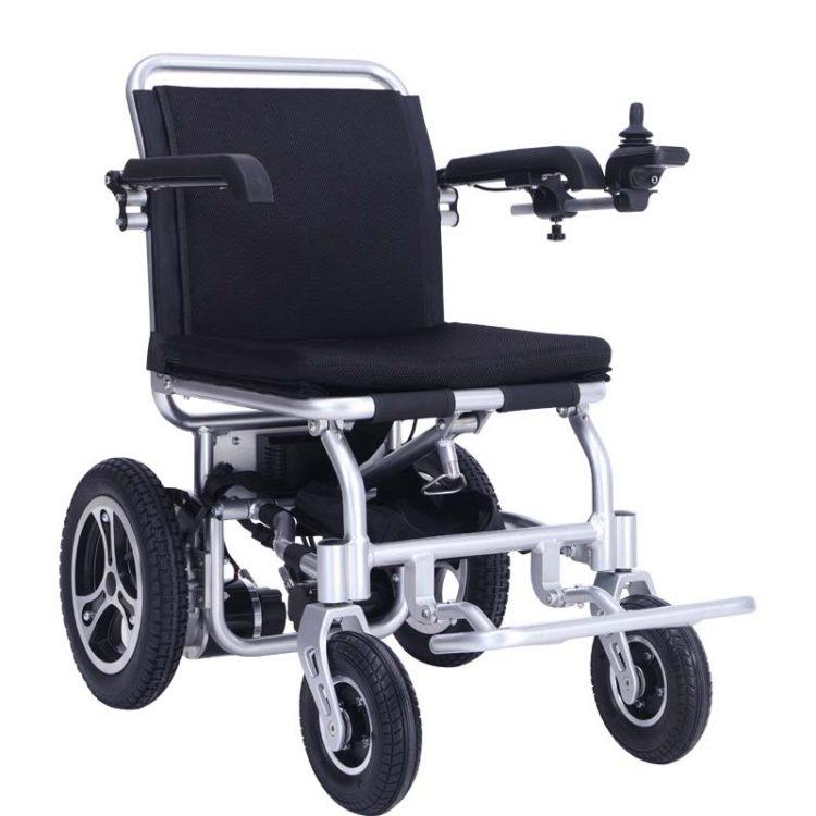 """6"""" black portable outdoor electric power wheelchair"""