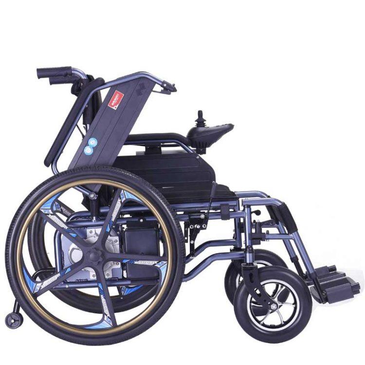 Black Carbon Steel Electric Wheelchair