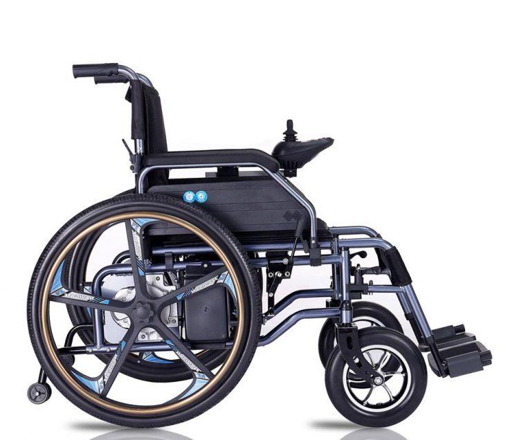 Anti-backward lithium battery electric wheelchair