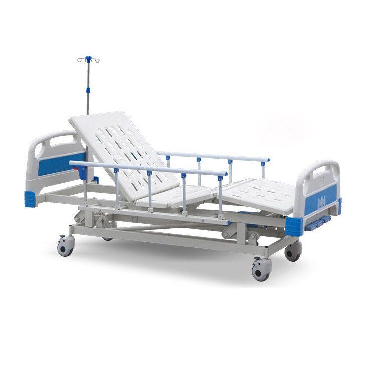 3 Crank Hospital Bed Manufacturer With IV Pole