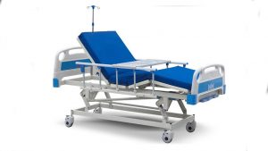 3 crank manual medical bed with 8 cm Sponge mattress