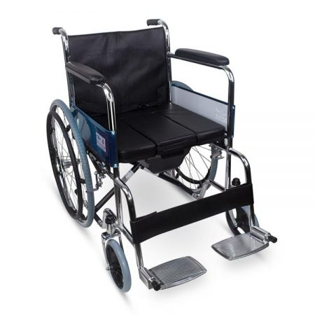 Carbon steel wheelchair with potty