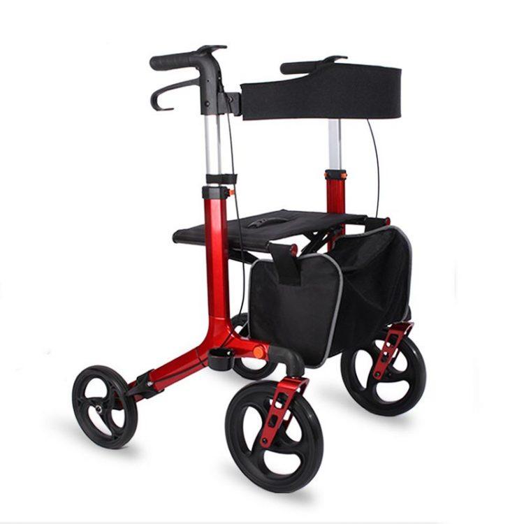 8 inch rear wheel aluminum walker for old people