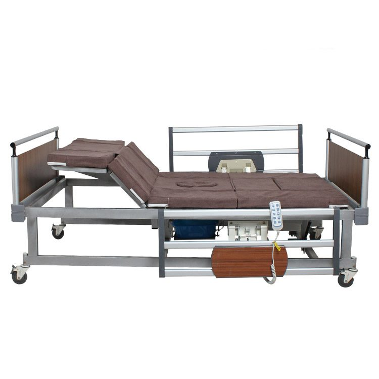 Electric nursing bed that can lift legs