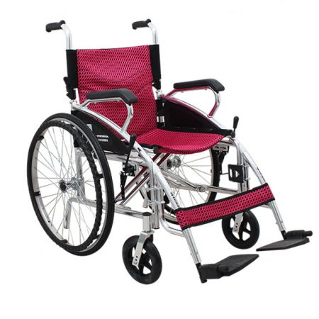 Wholesale Aluminum Alloy Pink Color Wheelchair For Women