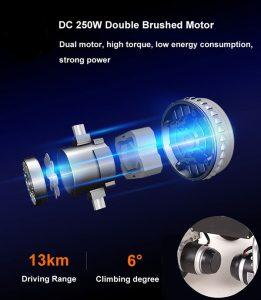 Brush motor for electric wheelchair