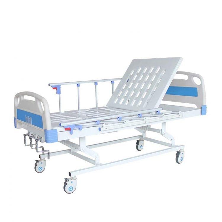 Height adjustable hospital bed
