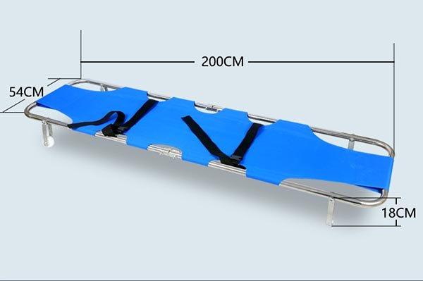 Emergency stretcher size