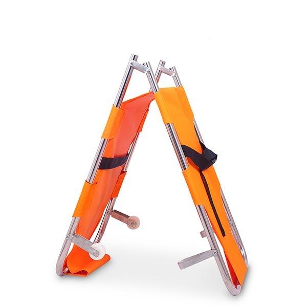 Orange emergency stretcher