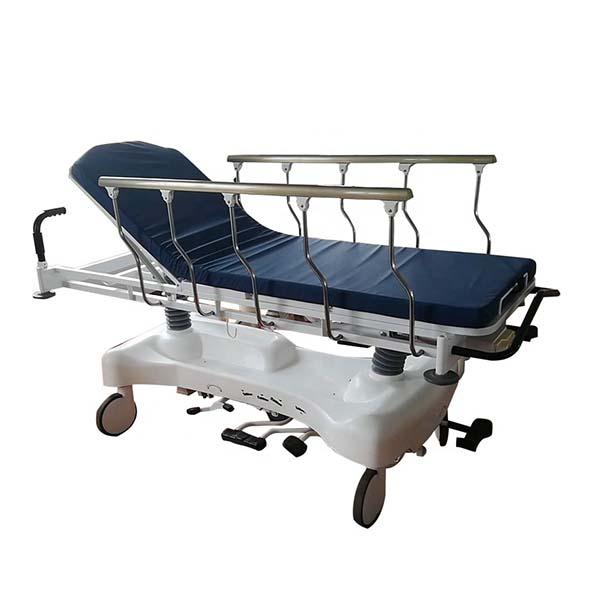 Hydraulic patient trolley