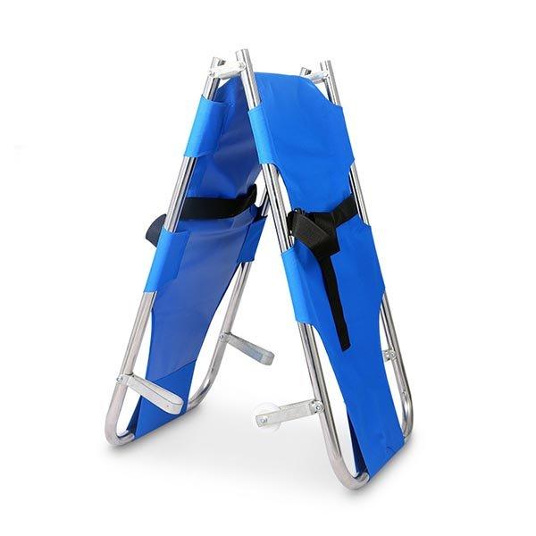 Foldable emergency stretcher
