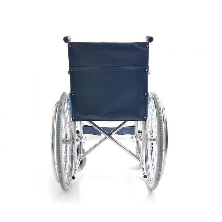 Chrome Plated Wheelchair With Spoke Rear Wheel