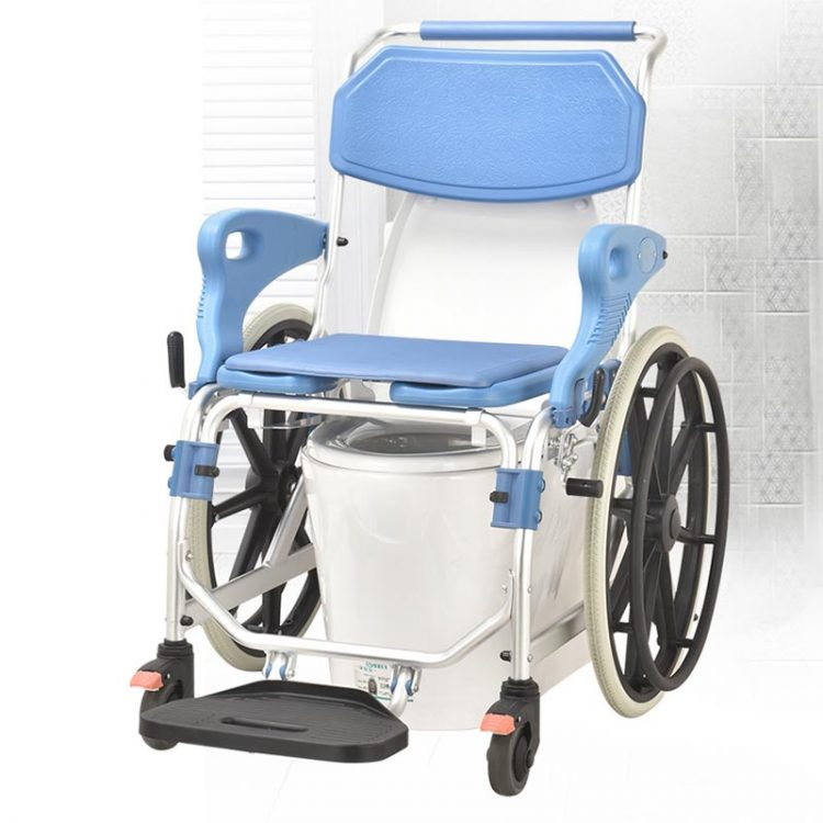 Ultra-narrow shower commode wheelchair