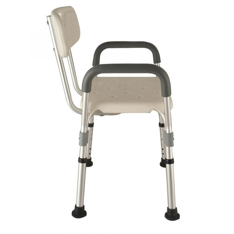 Tool Free Medical Bath Seat Shower Chair With Back and Arms