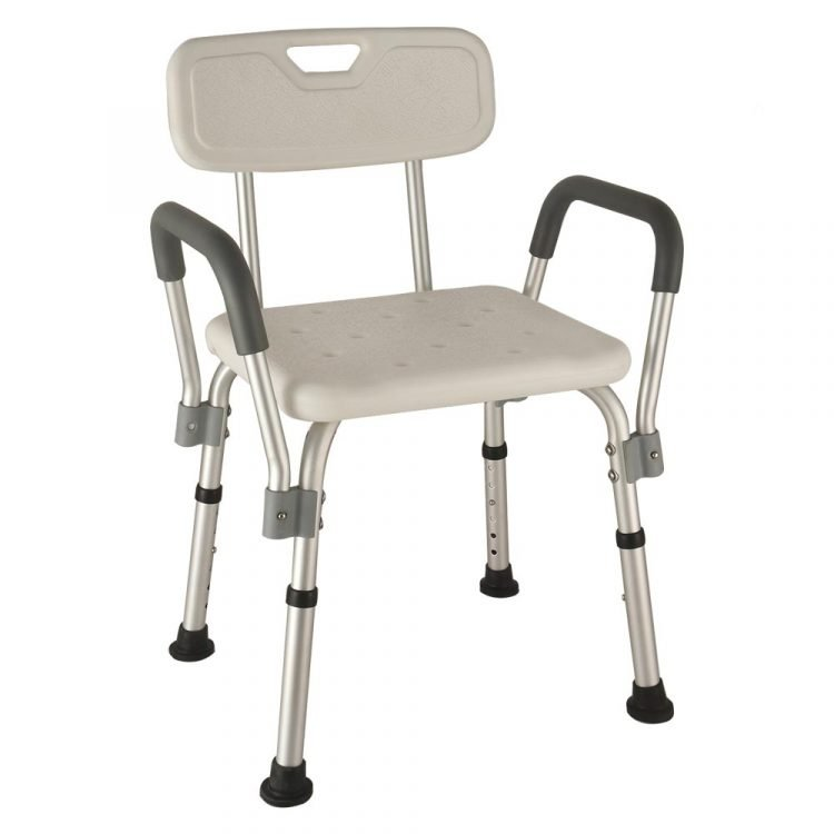 Hospital Medical Bath Shower Chair With Back and Arms