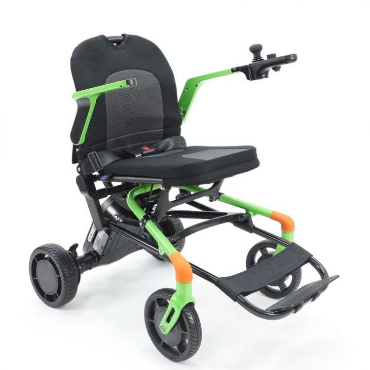 Green Color Light Weight aluminu electric wheelchair