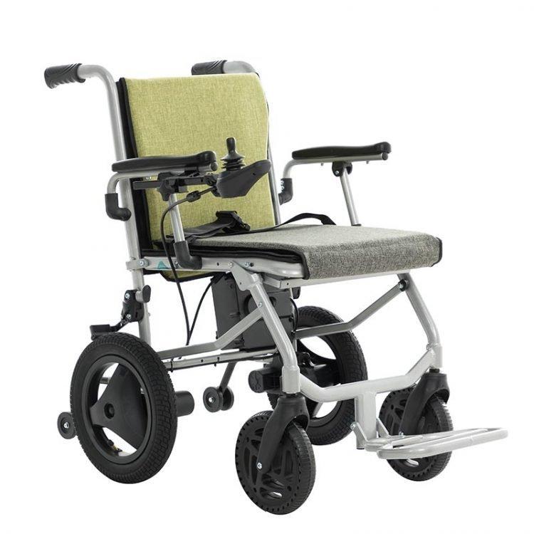 Net weight 15kgs aluminium small electric wheelchair